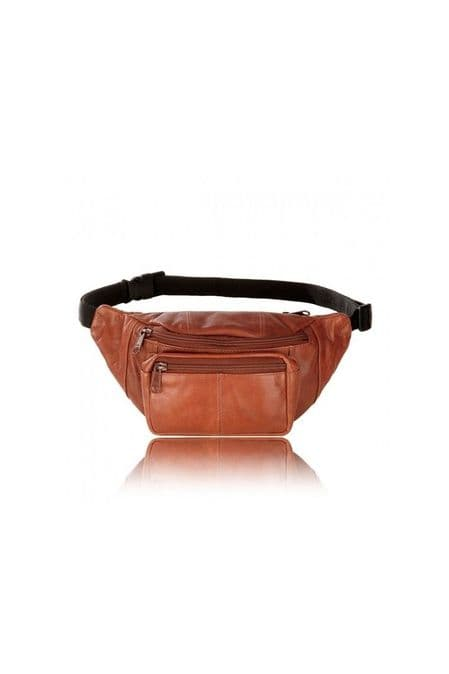 Visconti Unisex Leather Bumbag in Brown